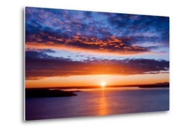 Sunset over Puget Sound, Seattle-kwest19-Metal Print