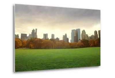 View of New York Buildings from Central Park-olly2-Metal Print