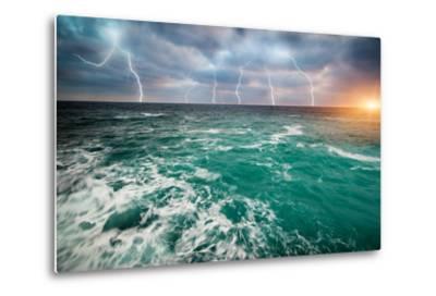 Storm on the Sea-Kashak-Metal Print