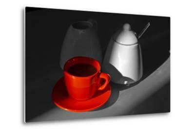 Red Cup of Coffee-jam-design.cz-Metal Print