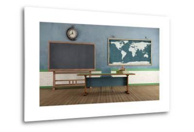 Retro Classroom without Student-archidea-Metal Print