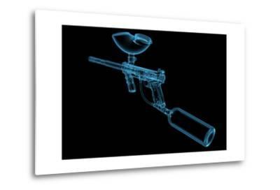 Paintball Gun (3D Xray Blue Transparent)-sauliusl-Metal Print