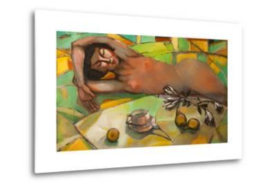 Portrait of Nude Female-Lilun-Metal Print