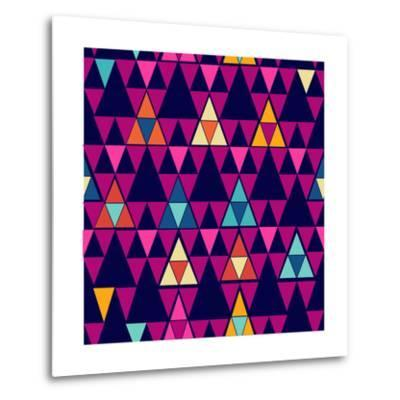 Trendy Hipster Geometric Pattern-cienpies-Metal Print