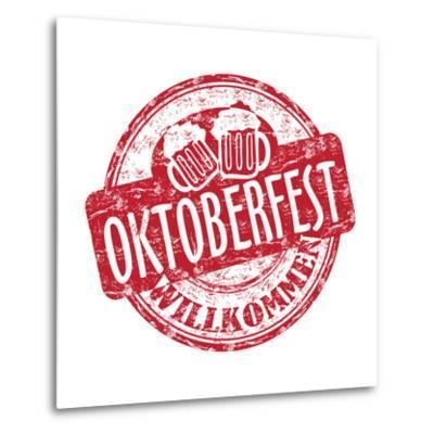 Oktoberfest Grunge Rubber Stamp-oxlock-Metal Print