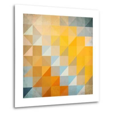 Abstract Triangles Geometry-art_of_sun-Metal Print