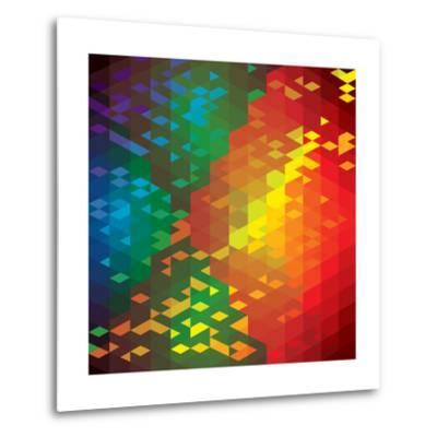 Abstract Colorful Of Geometric Shapes-smarnad-Metal Print