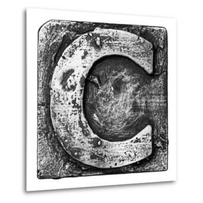 Metal Alloy Alphabet Letter C-donatas1205-Metal Print