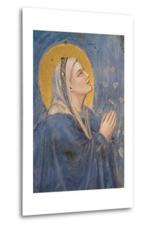 Passion, The Ascension, Detail of Virgin Mary-Giotto di Bondone-Metal Print