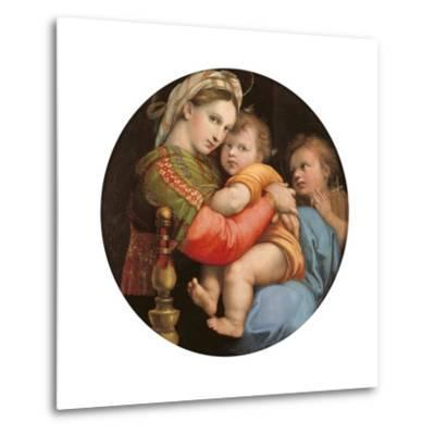 Madonna of the Chair-Raphael-Metal Print