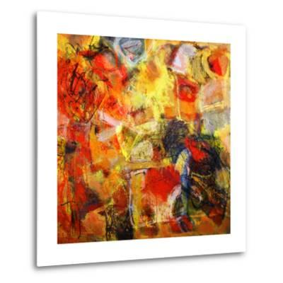 Mixed Technics, Expression Abstract Painting-dpaint-Metal Print