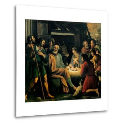 Nativity and the Adoration of the Shepherds-Giuseppe Vermiglio-Metal Print