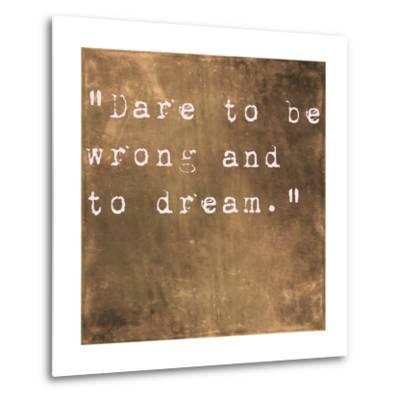 Inspirational Quote By Friedrich Von Schiller On Earthy Brown Background-nagib-Metal Print