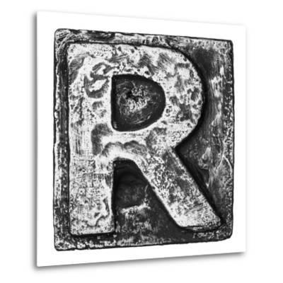 Metal Alloy Alphabet Letter R-donatas1205-Metal Print