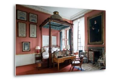 Queen of Scots Bedroom, Chatsworth House, Derbyshire--Metal Print