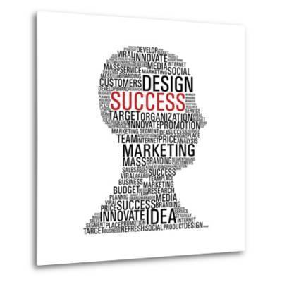 Marketing Success Head Communication-cienpies-Metal Print