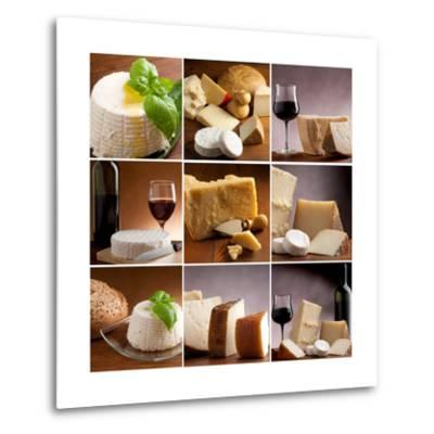 Collection Of Italian Cheese And Wine-Marco Mayer-Metal Print