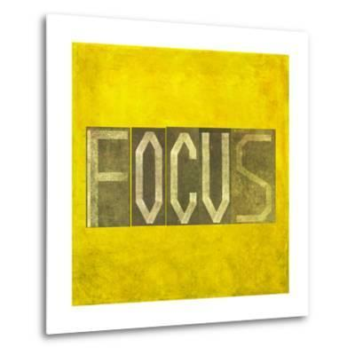 """Earthy Background Image And Design Element Depicting The Word """"Focus""""-nagib-Metal Print"""