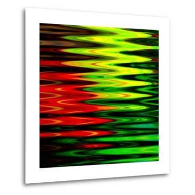 Art Abstract Geometric Textured Bright Green And Red Background-Irina QQQ-Metal Print