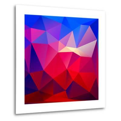 Bright Geometric Background- Bellenixe-Metal Print