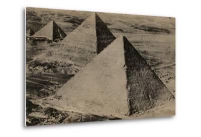 The Pyramids of Giza, Egypt--Metal Print