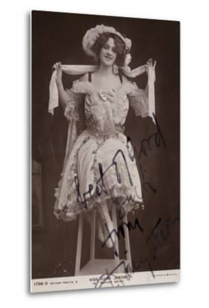 Daisy Jerome, English Stage Actress--Metal Print