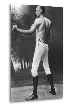 Full Length Muscular Bob Fitzsimmons--Metal Print