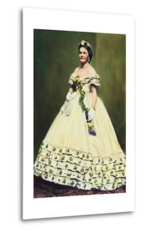 Color Illustration of Mary Todd Lincoln--Metal Print