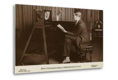 Actor Captain C a Lewis Who Played Uncle Caractacus in Children's Hour at a Recording--Metal Print