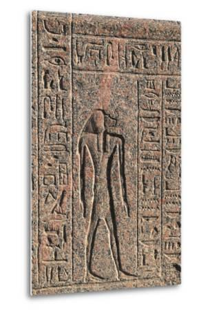 Inscription and Relief of Anubis and Another God, Amenhotep's Sarcophagus, Memphis--Metal Print
