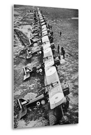 British Fighter Squadron in France, 1918--Metal Print