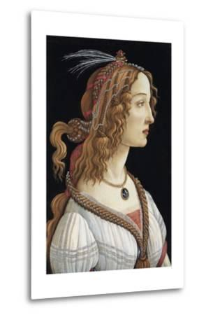 Portrait of Simonetta Vespucci as a Nymph by Sandro Botticelli--Metal Print