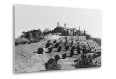 Exterior View of William R. Hearst's Castle with Landscape--Metal Print