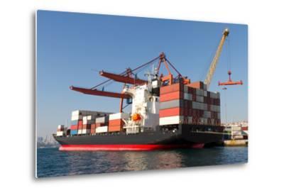 Container Ship-EvrenKalinbacak-Metal Print