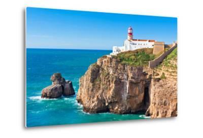 Lighthouse of Cabo Sao Vicente, Sagres, Portugal-topdeq-Metal Print