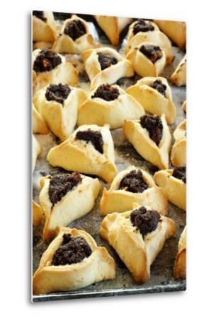 Hamantaschen (Jewish Cookies with Poppy Seed)-Elzbieta Sekowska-Metal Print