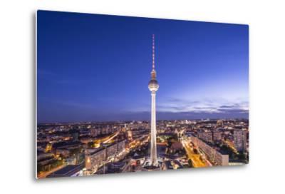 Cityscape of Berlin, Germany at Alexanderplatz.-SeanPavonePhoto-Metal Print