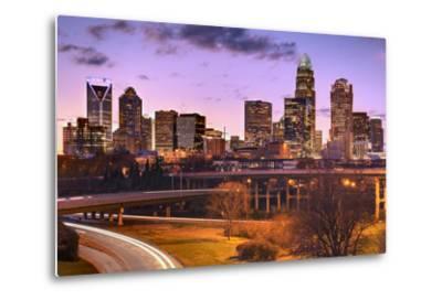 Skyline of Uptown Charlotte, North Carolina.-SeanPavonePhoto-Metal Print
