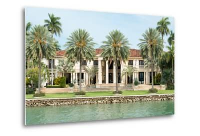 Luxurious Mansion by the Seaside on Star Island, Miami, Home of the Rich and Famous-Kamira-Metal Print