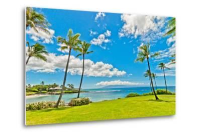 West Maui's Famous Kaanapali Beach Resort Area-eddygaleotti-Metal Print