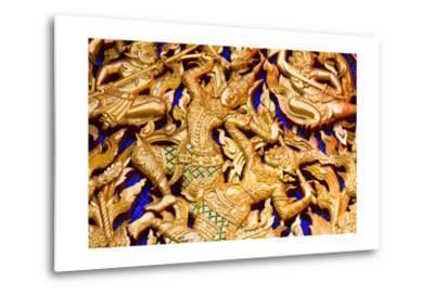 Classic Thai Art on a Temple- BugTiger-Metal Print