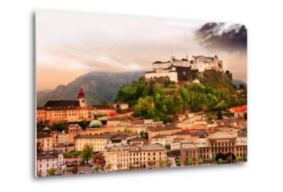 Dramatic Landscape before a Sunset over Salzburg, Austria-Maugli-l-Metal Print
