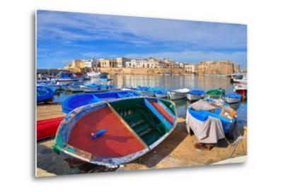 Panoramic View of Gallipoli. Puglia. Southern Italy.-Mi.Ti.-Metal Print