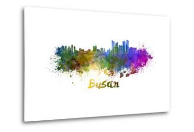 Busan Skyline in Watercolor-paulrommer-Metal Print