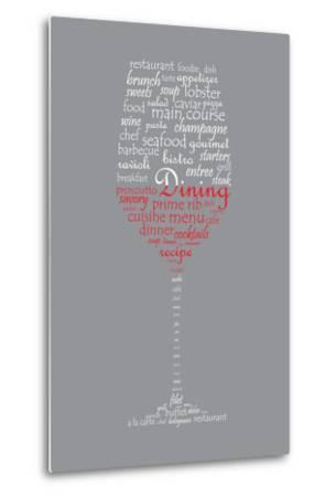 Food and Dining Concept on a Wine Glass Shaped Word Collage-shutter4543-Metal Print