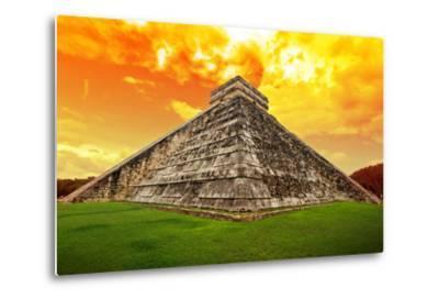 Amazing Sky over Kukulkan Pyramid in Chichen Itza, Mexico-Patryk Kosmider-Metal Print