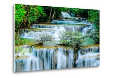 Huay Mae Khamin - Waterfall, Flowing Water, Paradise in Thailand.-ThaiWanderer-Metal Print