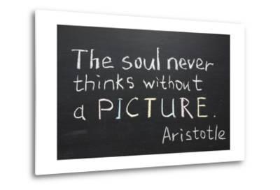 Aristotle Quote-Yury Zap-Metal Print