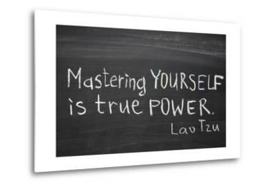 Mastering Yourself-Yury Zap-Metal Print