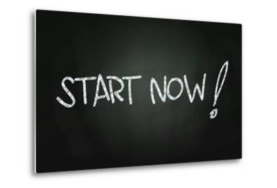 Start Now-airdone-Metal Print